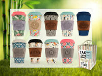 Reusable Bamboo Coffee Cups Eco Friendly Thermal Insulated Travel Mug Lid