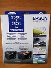 Epson Genuine 254XL Black & 252XL Color Value Pack WF-3620/3640/WF7610/7620