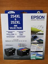 Epson Genuine 254XL Black & 252XL Color Value Pack WF-3620/3640/WF7610/7620