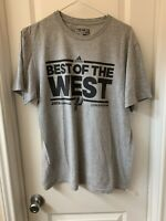 San Antonio Spurs Mens Large 2013 Best Of The West Shirt NBA Confrence Champion