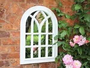 Garden Ornament Antique White Garden Arch Mirror Home Decoration Outdoor Indoor