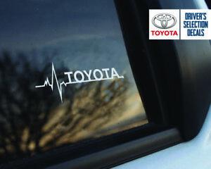 Toyota is in my Blood window sticker decals graphic