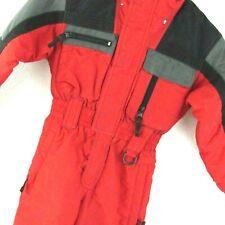 Sportcaster Insulated Ski Suit Snowsuit Size Medium Youth Red Black Kids Unisex