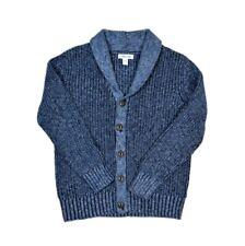 Cherokee Heather Cobalt Blue Woven Knit Cardigan Boy's Size Medium (8-10)