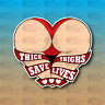 """Thick Thighs Save Lives Thicc Booty Girl Funny MEME 4"""" Vinyl Decal Sticker JDM"""