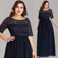 US Ever-Pretty Plus Size Lace Long Evening Dress Mother Of Bride Party Gown 7624