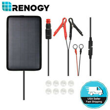 Renogy 5W 12V Trickle Charge Solar Battery Charger Outdoor Maintainer Waterproof