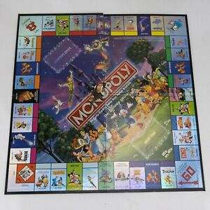 2001 Disney Monopoly Replacement Board Only - Craft - Wall Art - Excellent