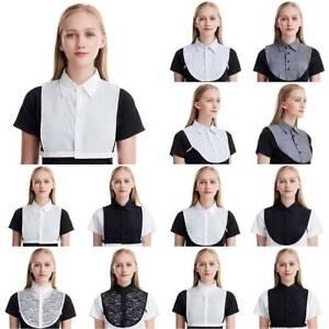 Womens Fake Collar Dickey False Blouse Shirt Neck Muslim Islamic Half Top Cover