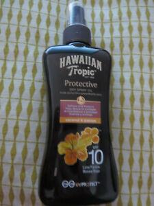 Hawaiian Tropic Huile Solaire Spray Protectrice SPF10 200ml NEUF L152 9