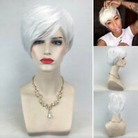 Heat Resistant Women Short Straight Pixie Wig Synthetic Hair Wigs Cosplay Party