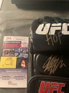 """Georges St-Pierre Autographed Signed UFC Glove """"HOF"""" Inscription JSA COA"""