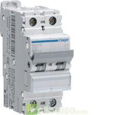 Disjoncteur 2P 6/10kA courbe B 6A 2 modules - NEN206 HAGER