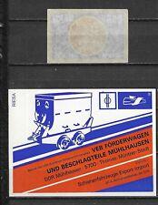 MATCHBOX LABELS-GERMANY. Rail transport company, packet  size label, Riesa