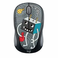Logitech Doodle Collection M317 M325 Mouse Optical Wireless 3 Buttons Very Good