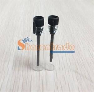 50 EMPTY SMALL GLASS 1ml 2ml 3ml black/white cap PERFUME SAMPLE VIAL BOTTLE New