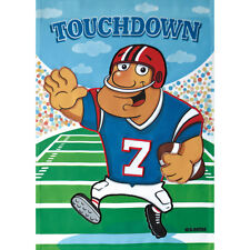 "TOUCHDOWN FOOTBALL PLAYER 12.5"" X 18"" FLAG 25-2701-178 RAIN OR SHINE FALL SEASON"