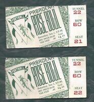 1944 Rose Bowl football ticket stub lot of 2 USC Trojans v Washington Huskies