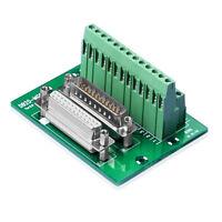 D-SUB DB25 Terminal Stift- / Buchsenleiste, DSUB Klemmleiste Stecker Adapter