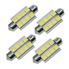 4X White 42mm 5050 8SMD Festoon Dome Map Interior LED Light Bulbs 211-2 578 569