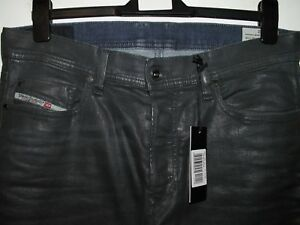 Diesel tepphar slim-carrot jeans coated leather style 084BF stretch W33 L33 3815