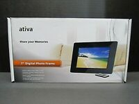 "ATIVA 7"" Digital Photo Frame with Remote Control Share your memories"