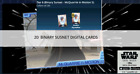 Topps Star Wars Card Trader Mcquarrie in Motion Wave 5 Binary Sunset 20 CARDS