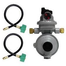 "Fairview RV Camper Propane Automatic LP Gas Regulator 15"" QCC Acme Pigtails"