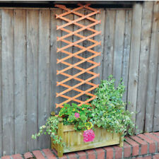 6ft Expanding Wooden Garden Trellis Climbing Plant Support Lattice Fence Panel