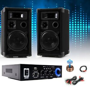 PA Party Musikanlage Boxen Karaoke Verstärker Bluetooth USB SD MP3 DJ-Party Set