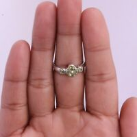 Peridot Gemstone Indian Handmade Jewelry 925 Solid Sterling Silver Ring Size 7