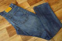 Mens JACK & JONES RICK ORIGINAL AT215 Button Fly Blue Jeans Size W32 L32