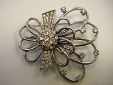 PENNINO STERLING SILVER RETRO RHINESTONE BROOCH PIN-BEAUTIFUL!!!