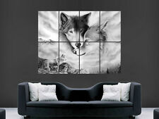 WOLVES POSTER NATURE GIANT WALL POSTER ART PICTURE PRINT LARGE