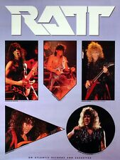 Ratt 1985 Invasion Of Your Privacy Vintage Promo Poster Original