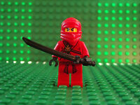 Brand New LEGO Ninjago Ninja Kai in Red very rare collectable Mini Figure Fig