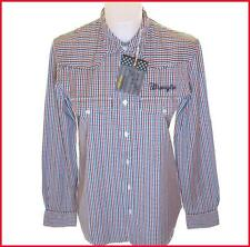 Bnwt Men's Authentic Wrangler Long Sleeve Striped Shirt Small New