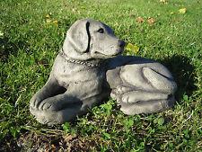 dog labrador stone garden ornament  << VISIT MY SHOP>>