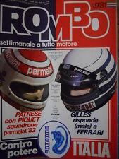ROMBO 19 1981 Cesare Fiorio Pilota Offshore - Gilles Villenueve e Ferrari