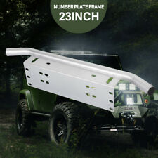 "Number Plate Frame BullBar Mount Bracket Car Driving Light Bar Holder Silver 23"""