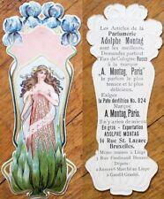 Art Nouveau 1890 Perfume/Parfumerie Adolphe Montag- Paris Trade Card/Bookmark- 6