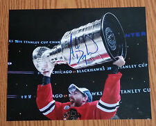 Andrew Desjardins 2015 Chicago Blackhawks signed 8x10 Cup Photo RARE (A)