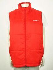 Adidas AC Orange Padded Full-Zip Puffer Jacket Vest Mens 2XL XXL