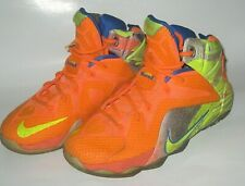 """Nike LeBron 12 """"Six Meridians"""" Sneakers Shoes 685181 800 Size 4 Y Youth"""