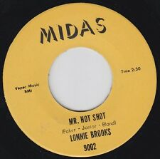 LONNIE BROOKS Mr Hot Shot MIDAS Re.45 7 2 Side 1967 Dance Craze R&B Shouter HEAR