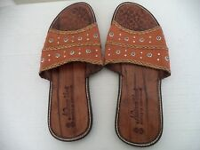 Men's Brown Handmade Nesinco Shoes Leather Slippers. Size 12  American, 45 Euro.