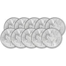 2020 Canada Silver Maple Leaf - 1 oz - $5 - BU - Ten 10 Coins