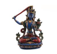 Soprammobile Tibetano Da Manjushree IN Resina Budda 20 CM 2498