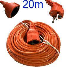 20 metri Prolunga elettrica 220V. Spina presa cavo lineare 20 m esterno pioggia