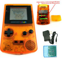 Clear Orange Rechargeable Nintendo Game Boy Color GBC Console With Card&Charger